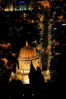 Bahai Temple and German Colony at night