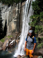 Ben in front of Vernal Falls