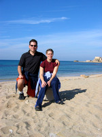 Ben_and_Tammy_at_beach_at_Caesarea