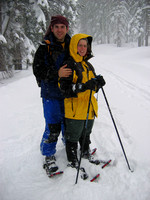 Snowshoeing at Lake Tahoe with Martin and Gwyn (January 2004)