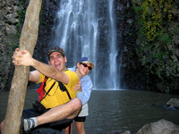 Ben_and_Tammy_goofing_around_at_Nachal_Gilabun_waterfall