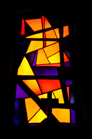 Stained glass inside the Nazareth church 2