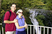 Ben and Tammy at the top of Multnomah Falls
