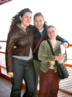 Ayleen, Natalie, and Erin on the Staten Island Ferry