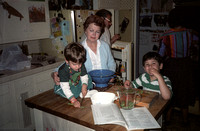Jonathan, Great Grandma, Mike and Ben in the old kitchen
