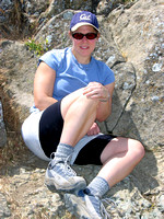 Tammy relaxing at the summit
