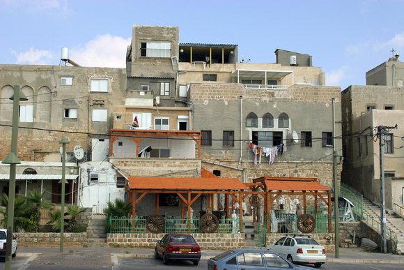 Modern Arab buildings at Akko
