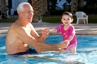 Maya and Grandpa Playing in the Pool by the Dead Sea_0894
